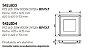 Plafon New Picture Embutido Alumínio Quadrado 7x62cm Newline PCI LED 30W Bivolt 542LEDBTDO Entradas e Salas - Imagem 3