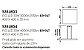 Pendente Tray LED Horizontal Quadrado Metal Preto 3,5x40cm Newline PCI LED 30W Bivolt 535LEDPT Salas e Entradas - Imagem 2
