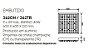 Plafon Lusso Sobrepor Cristais Alumínio Branco 11x60cm Newline 9x G9 Halopin Bivolt 362BTDO Entradas e Salas - Imagem 3