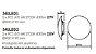 Arandela Pleine Lune LED Redonda Sobrepor Acrílico 9x40cm Newline 2x PCI LED 6W 341LEDBT Salas e Corredores - Imagem 2
