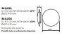 Arandela Pleine Lune LED Redonda Sobrepor Acrílico 9x60cm Newline 3x PCI LED 6W 342LEDBT Salas e Corredores - Imagem 2