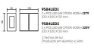 Arandela New Trace Externa Quadrada Sobrepor Alumínio 10x5cm Newline 2x PCI LED 6W 9584LED1BT Varandas e Garagens - Imagem 2