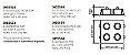 Spot Lisse II 4 Foco Embutido Quadrado Alumínio 13x31cm Newline 4x GU10/GZ10 AR111 LED IN55554BT Salas e Quartos - Imagem 2