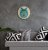 Quadro de Madeira Redondo- Geometric Wolf - Imagem 3