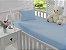 Jogo de Lençol de Berço Malha 100% Algodão Azul - Sathler Baby - Imagem 1