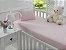 Jogo de Lençol de Berço Malha 100% Algodão Rosa - Sathler Baby - Imagem 1