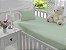Jogo de Lençol de Berço Malha 100% Algodão Verde - Sathler Baby - Imagem 1
