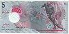 Cédula das Maldivas 5 Rúpias Polimero - Imagem 2
