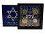 Display de Plástico Israel com 4 moedas - Imagem 1