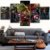 Painel Quadro 5 Partes 110X55cm Vingadores Avengers Heróis - Imagem 2