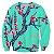 Blusa Moletom Careca 3d Full Flores De Cerejeira Japão - Imagem 1