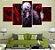 Quadro 5 Telas Decorativo Anime Tokyo Ghoul Kaneki (110x55 ou 160x90) - Imagem 1