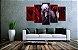 Quadro 5 Telas Decorativo Anime Tokyo Ghoul Kaneki (110x55 ou 160x90) - Imagem 2