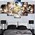 Quadro 5 Telas Decorativo Anime Shingeki no Kyojin Personagens (110x55 ou 160x90) - Imagem 1