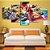 Quadro 5 Telas Decorativo Jogo Mario Kart (110x55 ou 160x90) - Imagem 2
