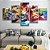 Quadro 5 Telas Decorativo Jogo Mario Kart (110x55 ou 160x90) - Imagem 3