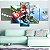 Quadro 5 Telas Decorativo Mario Kart (110x55 ou 160x90) - Imagem 2