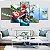 Quadro 5 Telas Decorativo Mario Kart (110x55 ou 160x90) - Imagem 1