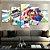 Quadro 5 Telas Decorativo Jogo Super Mario Party (110x55 ou 160x90) - Imagem 2