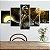 Quadro 5 Telas Decorativo Filme O Estranho Mundo De Jack (110x55 ou 160x90) - Imagem 1