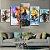 Quadro 5 Telas Decorativo  Jogo The Legend Of Zelda Aquarela (110x55 ou 160x90) - Imagem 3