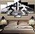 Quadro 5 Telas Decorativo  Jogo The Legend Of Zelda Black And White (110x55 ou 160x90) - Imagem 1