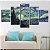 Quadro 5 Telas Decorativo Noite Estrelada Van Gogh (110x55 ou 160x90) - Imagem 3