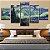 Quadro 5 Telas Decorativo Noite Estrelada Van Gogh (110x55 ou 160x90) - Imagem 1