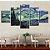 Quadro 5 Telas Decorativo Noite Estrelada Van Gogh (110x55 ou 160x90) - Imagem 2