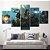 Quadro 5 Telas Decorativo Jogo Overwatch Junkrat e Roadhog  (110x55 ou 160x90) - Imagem 3