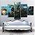 Quadro 5 Telas Decorativo Jogo Overwatch Junkrat e Roadhog  (110x55 ou 160x90) - Imagem 2