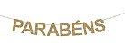 GUIRLANDA PARABÉNS DE MADEIRA COM GLITTER - Imagem 1