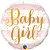 """BALÃO METALIZADO REDONDO BABY GIRL 18"""" (UNIDADE) - Imagem 1"""