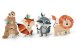 SILHUETAS DECORATIVAS ANIMAIS DA FLORESTA (4 UNIDADES) - Imagem 1