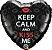 BALÃO KEEP CALM AND KISS ME (UNIDADE) - Imagem 1