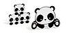 SILHUETAS DECORATIVAS PANDA  (4 UNIDADES) - Imagem 1