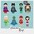 Kit Digital Clipart Liga da Justiça Cute  + Kit Digital Clipart Balões de texto - Heróis - Imagem 2