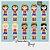 Kit Digital Clipart Mulher Maravilha Cute +  Kit Digital Clipart Balões de Texto - Heróis - Imagem 2