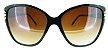 Óculos Acetato Preto c/ branco - Imagem 1