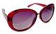 Óculos acetato vermelho redondo c/ lentes pretas - Imagem 1