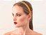 Tiara de Brilho Cetim Sparkle Amarela - Imagem 2
