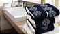 Jogo de toalha com aplique Percal Importado 200 Fios Bordado Celine – Enxovart - Imagem 1
