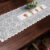 Trilho Valência Branco Vasinho Vermelho 40cmX150cm Interlar - 161244 - Imagem 1