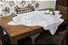 Toalha Quadrada Branca Tulipinhas -135597 -  1m X 1m - Imagem 1