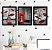 Kit 3 Quadros Decorativos Cidade Preto E Branco Com Vermelho - Imagem 1