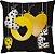 Capa de Almofada Preta Love Amarelo - Imagem 1