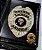 Distintivo Carteira Couro Agente Escolta Armada Folheado À Prata Brinde Bótom - Imagem 1