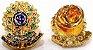Distintivo Carteira Couro Agente Escolta Armada Folheado À Prata Brinde Bótom - Imagem 3
