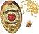 Distintivo Investigador Profissional Folheado a Ouro Brinde Bótom - Imagem 2
