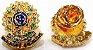 Distintivo Investigador Profissional Folheado a Ouro Brinde Bótom - Imagem 3